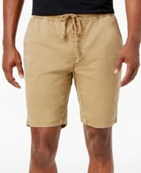 American Rag Men's Classic Fit Stretch Solid Drawstring Shorts Only At Macy's Dull Gold