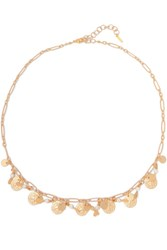 Chan Luu Gold Tone Stone Necklace One Size