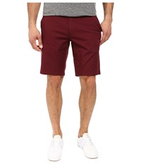 Rvca The Week End Stretch Shorts Tawny Port Men's Shorts Red