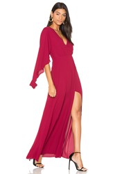 Bcbgmaxazria Open Sleeve Gown Burgundy