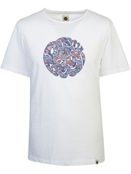 Pretty Green Men's Camley Paisley Applique T Shirt White