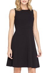 Petite Women's Tahari Sleeveless A Line Dress Black