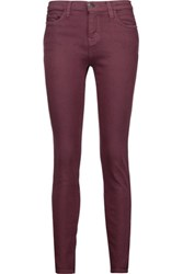 Current Elliott The Stiletto Mid Rise Skinny Jeans Grape