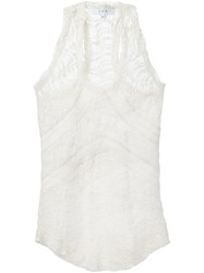 Iro Racer Back Lace Tank White