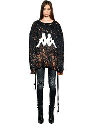 Faith Connexion Kappa Bleached Lace Up Jersey Sweatshirt