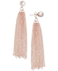 Inc International Concepts Robert Rose For Imitation Pearl Tassel Drop Earrings Only At Macy's Rose Gold