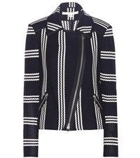 Veronica Beard Bailey Moto Jacket Blue