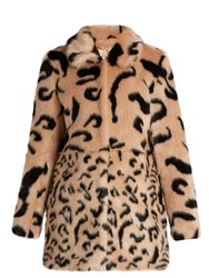 Shrimps Lassie Faux Fur Coat Pink Multi