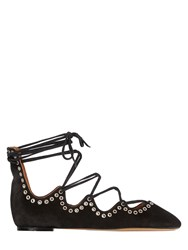 Isabel Marant 10Mm Leo Lace Up Ballerina Flats