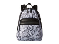 French Connection Piper Backpack Black White Snake Backpack Bags Multi