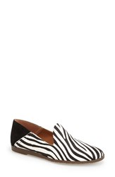 Women's Franco Sarto 'Freeze' Smoking Loafer Flat Zebra Pony