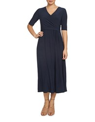 Chaus Nautical Breeze Solid Dress Navy