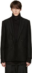 D.Gnak By Kang.D Black Wool Blazer
