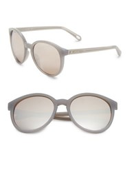 Fossil 56Mm Mirrored Sunglasses Grey
