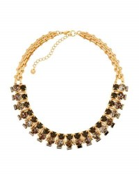 Lydell Nyc Short Statement Crystal Necklace Black