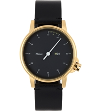 Miansai Black M24 Gold On All Leather M241013 Watch