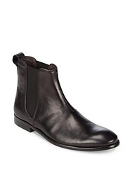 John Varvatos Slip On Leather Chelsea Black