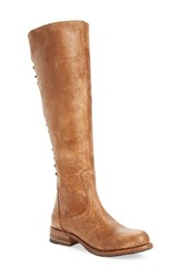 Bed Stu Women's Surrey Lace Up Over The Knee Boot Caramel Lux Leather
