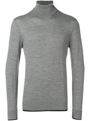 Emporio Armani Turtle Neck Fitted Sweater Grey