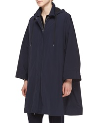 The Row Water Repellant Hooded Raincoat Navy