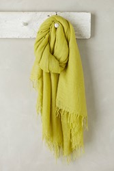 Anthropologie Lille Cashmere Scarf Chartreuse