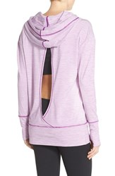 Women's Zella 'Turn Around' Hoodie Purple Spark Stripe