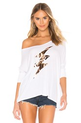 Lauren Moshi Sable Draped Tee White