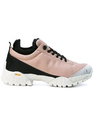 Alyx Low Hicking Boot Sneakers Women Cotton Leather Rubber 38 Nude Neutrals