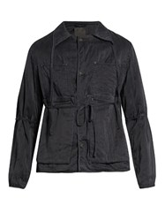 Craig Green Self Fastening Sandwashed Silk Jacket Black