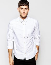 Esprit Shirt With Sports All Over Print White