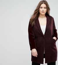 Elvi Maroon Boyfriend Coat Red