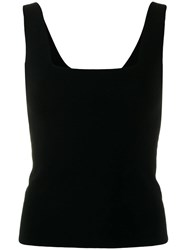 Vince Square Neck Vest Black