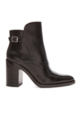 Alexander Wang Clarice Leather Ankle Booties In Black