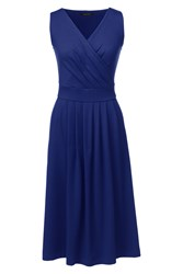 Lands' End Regular Jersey Crossover Dress Blue