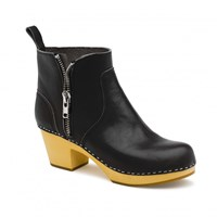 Swedish Hasbeens Zip It Emy Boots Black