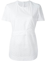 Cedric Charlier Embroidered Panel T Shirt White