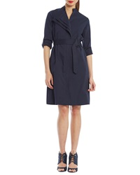 Raoul Spiga Belted Cotton Stretch Shirtdress