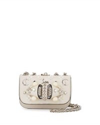 Christian Louboutin Sweet Charity Mixed Stud Leather Crossbody Bag White