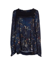High Blouses Dark Blue