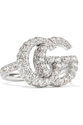 Gucci 18 Karat White Gold Diamond Ring