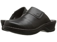 Josef Seibel Carole Dakota Black Leather Women's Clog Shoes