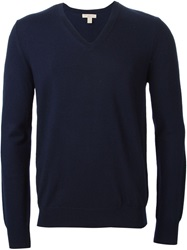 Burberry Brit V Neck Sweater Blue