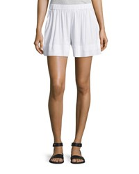 Vince Linen Blend Pull On Shorts Optic White