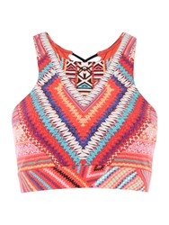 Seafolly Desert Tribe Crop Top Red