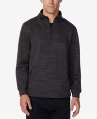 32 Degrees Men's Fleece Quarter Zip Tech Jacket Black