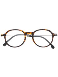 Carrera Round Frame Sunglasses Brown