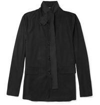 Ann Demeulemeester Unstructured Lightweight Cotton Blazer Black