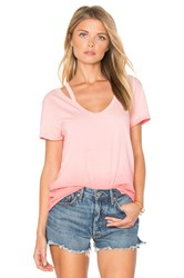 Pam And Gela Split V Neck Tee Pink