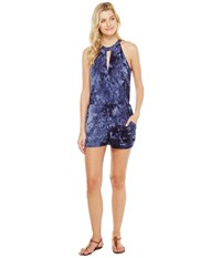 Brigitte Bailey Lilas Sleeveless Keyhole Romper Navy Women's Jumpsuit And Rompers One Piece