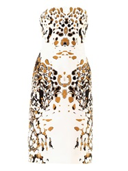 Josh Goot Leopard Vector Strapless Dress